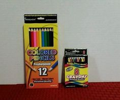 Colored Pencils and Crayons. Free Shipping!