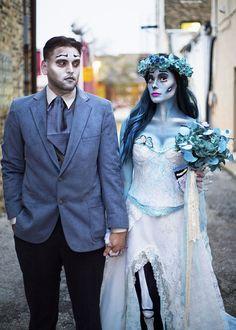 Corpse Bride Costume, Cute Group Halloween Costumes, Diy Costumes, Cosplay Costumes, Halloween Party, Halloween Ideas, Costume Ideas, Halloween Projects, Costume Makeup