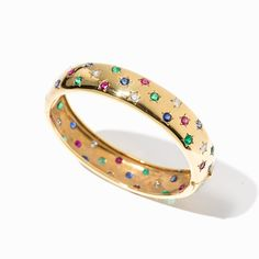 Multicolor Cartier Bracelet with 48 Gemstones, Paris, c. Cartier Only chez Auctionata AG Fashion Jewelry Stores, Jewelry Accessories, Jewelry Design, Bracelet Cartier, Antique Jewelry, Vintage Jewelry, Dream Engagement Rings, Diamond Bangle, Unique Rings