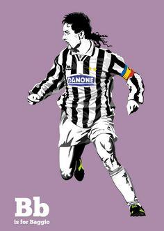 Roberto Baggio of Juventus & Italy wallpaper.
