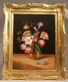 """Flowers in A vase """"Dirk De Bray"""" by Johannes Landman"""