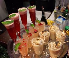 Last night holiday party. 3 signature cocktails, Mistletoe,Carmel Martini and Holiday 75 ACE OF SPADES CHAMPAGNE | Yelp