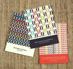 The Living Series set of 3 teeeny prints by littlethingsstudio