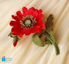 Poppy brooch, silk poppy, red flower, fabric poppy corsage on Etsy, $55.00