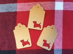 Die Cut Scottish Terrier Tag by NatureCuts on Etsy