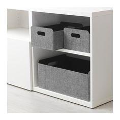 BESTÅ Box, gray gray 9 7/8x12 1/4x5 7/8