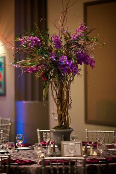 25 wedding mini chandelier centerpieces favors 17 tall by purple peonies centerpiece bing images aloadofball