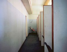 Best London photos: Paul Graham: Baby and Interview Cubicles, Brixton DHSS, South London, from the series Beyond Caring, © Paul Graham Paul Graham, Photography Projects, Fine Art Photography, Street Photography, Narrative Photography, Photography Aesthetic, Thing 1, Documentary Photographers, London Photos