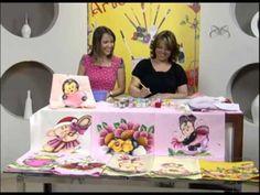 Pintura em tecido e aplicação com Eliana Rolim - Vitrine do Artesanato na TV - YouTube