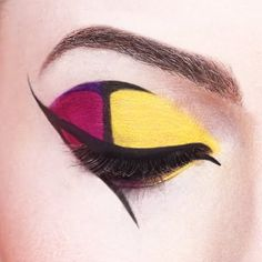 Complementary Colors Purple and Yellow: colors directly opposite one another on the color wheel.