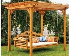 Pergola Swing Bed - Now just give me an outdoor fireplace & I can fall asleep watching the glowing embers,,,zzzzzz Wanda the Wanderer