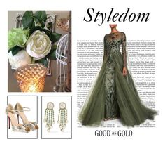 """Styledom: Gift for the Bridesmaid"" by khouryolivia on Polyvore featuring Monique Lhuillier, Valentino and Christian Louboutin"