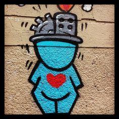John doe - #streetart Rue des Panoyaux. 000