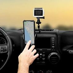 Titan Multi-Purpose Dash Mount for Jeep Wrangler - Includes Two Cell Phone Holders - Three Buckle Slots for Camera GPS… - BlackDogMods Cell Phone Holder, Minimal Design, Jeep Wrangler, Purpose, Minimalist Design, Jeep Wranglers, Phone Holder