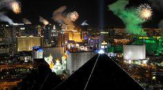 fireworks over a strip mall | World celebrates 2012