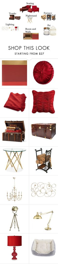 """""""Harry Potter: Gryffindor Dorm Furniture"""" by hallaveryh ❤ liked on Polyvore featuring interior, interiors, interior design, home, home decor, interior decorating, Nina Campbell, Sebastian Professional, J. Queen New York and Crate and Barrel"""