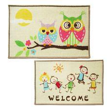 2015 Rugs For Kids Character Anti-slip Home Travel Door Bathroom Floor Korean Pastoral Dust Mat Cartoon Owl Carpet Mats (China (Mainland))