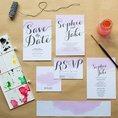 Shabby chic wedding invitation from Not on the High Street