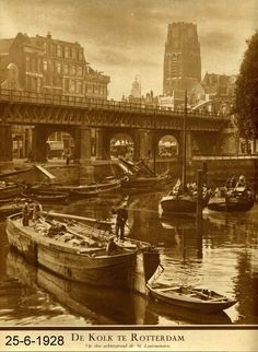 Rotterdam, Old Pictures, Holland, 19th Century, Dutch, Black And White, City, Water, Ships
