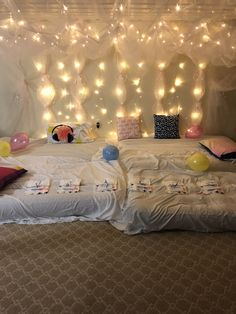 Slumber party ideas. Canopy lites. Birthday party.