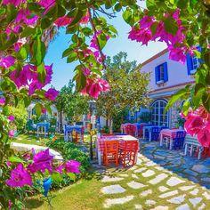 """Hidden gardens in #Alacati  iyi pazarlar"""