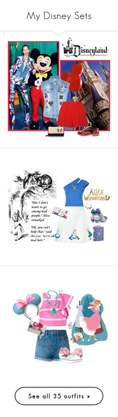 """My Disney Sets"" by seafreak83 ❤ liked on Polyvore featuring Thierry Mugler, Olympia Le-Tan, Disney, Chloé, MANGO, Converse, Nest, Links of London, Danielle Nicole and disney"
