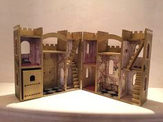 Welcome to my fairytale! What little girl doesnt want to get lost in an enchanting castle? Each castle is a hand painted, one of a kind piece.