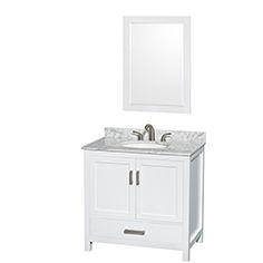 "36"" Sheffield Bathroom Vanity by Wyndham Collection - White #BathroomRemodel #BlondyBathHome #BathroomVanity   #TransitionalVanity"