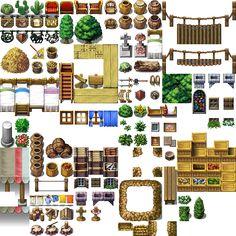 Tilesets Rpg Maker Vx Resource Planet Pixel Art Vector