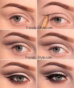 Hooded Eyes Makeup, Beauty Hacks, Tips, Tricks, Tutorials #makeuptutorials #BeautyHacksForSkin #BeautyRoutineCalendar Beauty Make-up, Beauty Makeup Tips, Beauty Hacks, Makeup Tips And Tricks, Makeup Guide, Asian Beauty, Smokey Eye Makeup, Makeup Eyeshadow, Matte Makeup