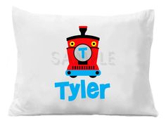 Train Personalized Pillow Case by TheTrendyButterfly on Etsy, $20.00