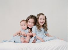 what to wear for your studio session with sandra coan photography sisters in matching blue dresses Newborn Photography, Family Photography, Outfits Fo, Beautiful Children, Seattle, What To Wear, Sisters, Parenting, Happy Family