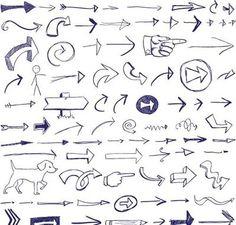 Arrow, Doodles free vector