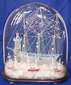 Exotic Birds, Model Ships, Glass Domes, Snow Globes, Fountain, Glass Art, Display, Conservatory, Terrarium