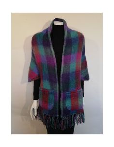 This Mohair wrap or shawl with pockets from the iconic Donegal Design brand woven in Co. Wicklow fits all and makes a wonderful gift since no sizing is required. Irish Fashion, Donegal, Keep Warm, Wrap Style, Formal Wear, One Size Fits All, Branding Design, Pure Products, Stylish