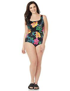 Gold Rush Swimsuit | Catherines Plus Sizes Metallic brushstrokes ...