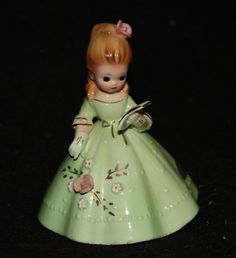 VINTAGE JOSEF ORIGINALS MUSIC GIRL BELL FIGURINE
