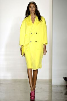 Alexandre Herchcovitch Spring 2013 // Double breasted yellow coat