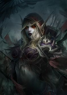 SylvanasWindrunner, WANG MOVMO on ArtStation at https://www.artstation.com/artwork/wKGvL