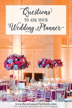 Questions to Ask Your Wedding Planner  | Here Comes The Guide