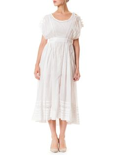 Edwardian Tissue Linen Tea Dress
