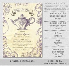 Teapot paris eiffel tower vintage tea party invite bridal shower printable bridal shower invitation template bridal tea shower invitation templates bridal tea invitation template purplw ivory teapot filmwisefo Gallery