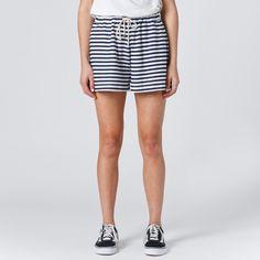 Huffer Knit Jogger Short - Navy Stripe | Thanks Store Online Jogger Shorts, Joggers, American Dreams, Store Online, Navy Stripes, Casual Shorts, Knitting, My Style, Swimwear
