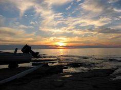 Sunset over Lake Superior near Ontonagon.
