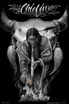 Chiefin Native American Indian Canvas Art by DGA David Gonzales Native American Drawing, Native American Tattoos, Native Tattoos, Native American Warrior, Native American Pictures, Native American Artwork, Native American Quotes, American Indian Art, American Indians