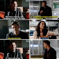 """More like Kid Flash"" - Barry, Wally and Iris #TheFlash"