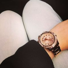 A classic rose gold #GUESS watch  #LoveGUESS