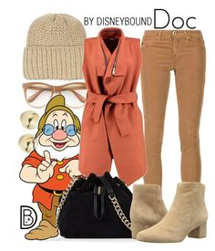 """Doc"" by leslieakay ❤ liked on Polyvore featuring Claudie Pierlot, AG Adriano Goldschmied, Lord & Taylor, Wildfox, Boohoo, Karen Millen, Sam Edelman, disney, disneybound and disneycharacter"
