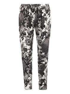 Christine flower-print trousers by Stella Mccartney #matchesfashion