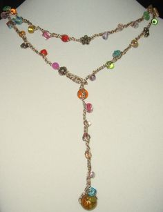 Colorful Hand Crochet Necklace idea